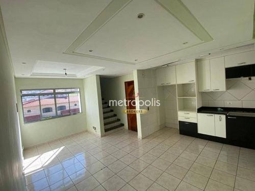 Imagem 1 de 20 de Cobertura Com 2 Dormitórios À Venda, 120 M² Por R$ 365.000,00 - Vila Camilópolis - Santo André/sp - Co0475