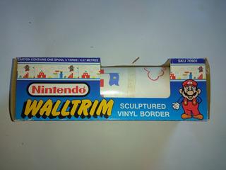 Nintendo Wall Trim Nes Mario Bros 1 --- 1989 Papel Tapiz