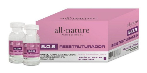 Kit Ampola S O S Reestruturador Cistina All Nature