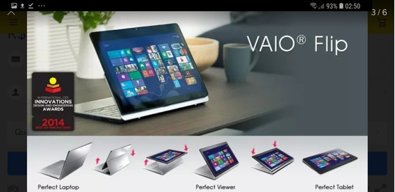 Sony Vaio Fit 15a I7 750gb 8gb Ram Touch Dobrável