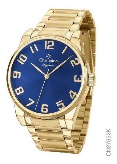 Relógio Champion Feminino Aço + Banhado A Ouro 18k Cn27652k