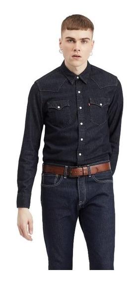 Camisa De Jean Levis Hombre Classic Western Shirt Azul