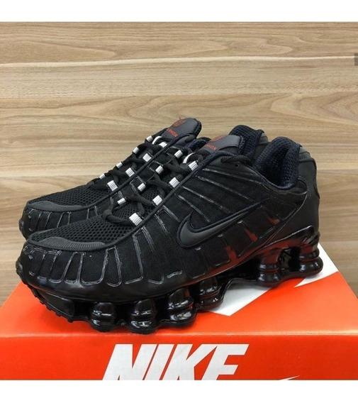 Tenis Nike Shox 12 Molas Black Neymar Original