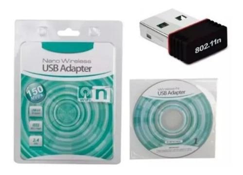 Imagen 1 de 2 de Adaptador  Wifi 802.iin Wireless Mini Usb Ade Ramos Cuotas