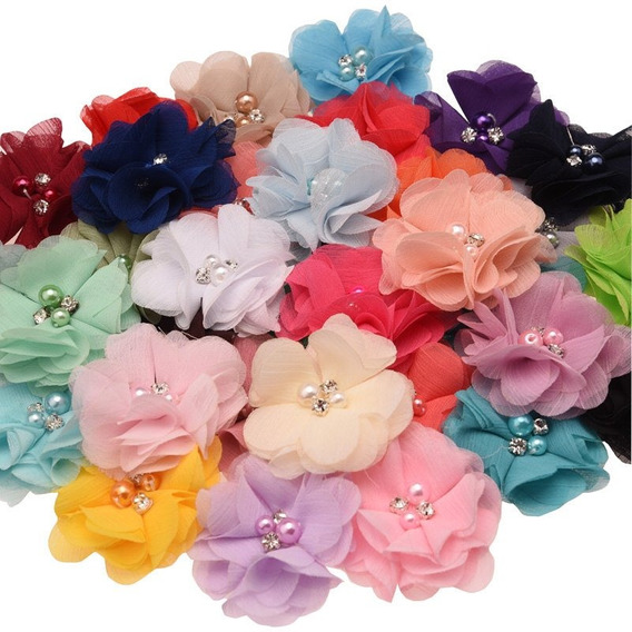 Combo Materiales Para Banditas Bebe Niña Princesa Flores