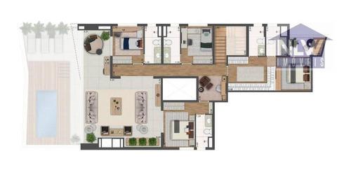Apartamento Duplex Com 4 Dormitórios À Venda, 218 M² Por R$ 3.463.581,00 - Alto Da Lapa - São Paulo/sp - Ad0042