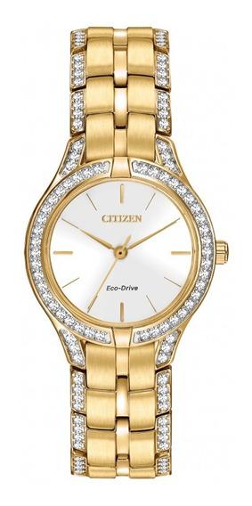 Reloj Dama Citizen Fe2062-58a Acero Con Cristales Ecodrive