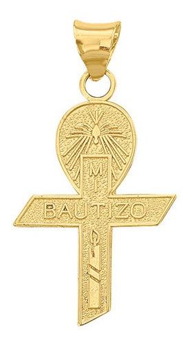 Imagen 1 de 1 de Dije Cruz Mi Bautizo Velita  Oro 10k - 1706