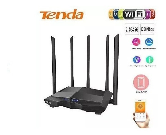 Router Wifi Y Repetidora Ap 1200mbps Tenda Ac11 Rompe Muros