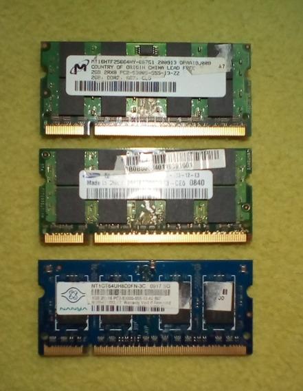 Memorias Ram Ddr2-667 So-dimm (combo 2x2gb - 1gb)