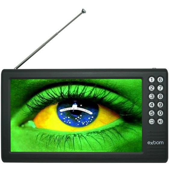 Mini Tv Digital Portátil Hd Tela 7 Polegadas Usb Fm Monitor