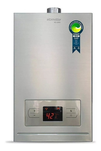 Aquecedor A Gás 20 Litros Komeco Digital Glp Gás De Cozinha