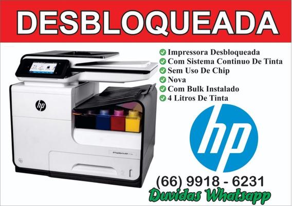 Hp Pagewide Pro 477 Dw Desbloqueada Sem Uso De Chip
