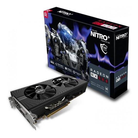 Placa De Vídeo Sapphire Radeon Rx 580 Nitro+ Dual, 8gb Gddr5