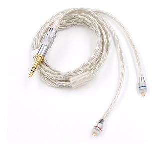 Cable Audífonos Kz / Zst / Es4 / Ed12 / Zsa / Zs10 Silver