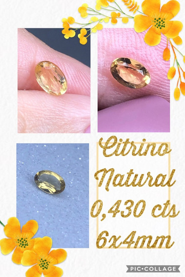 Citrino Oval Natural 0 430 Cts 6x4 Mm A