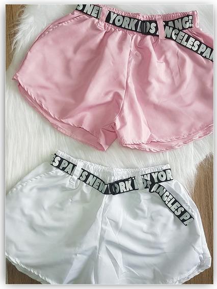 Shorts Tactel Com Cinto - Moda Blogueira