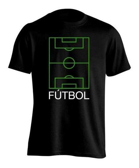 Remera Niña Fútbol Frases Cancha