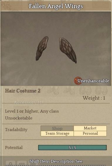 Fallen Angel Wings-item Tree Of Savior (tos) [sa] Silute Hat