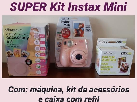 Super Kit Instax Mini 75: Câmera, Kit De Acessórios E Refil