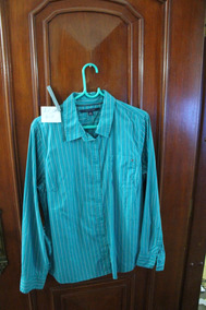 = Roupa Lote 618 Mulher Camisa Social Tommy Hilfiger Xl Azul