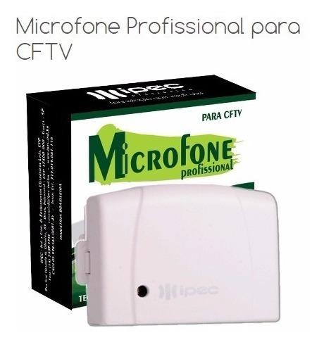 Microfone Amplificado Para Cftv Ipec Monitoramento Camera