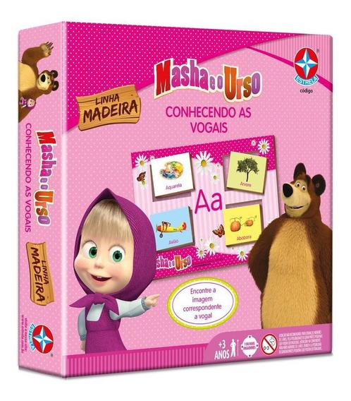 Jogo Conhecendo As Vogais Masha E O Urso - Estrela Estrela