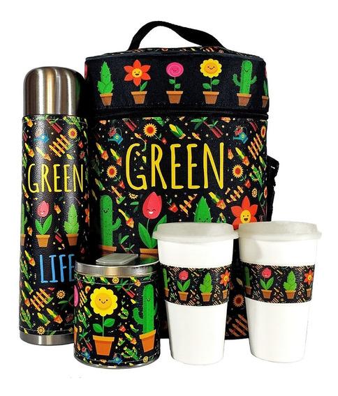 Equipo De Cafe Te Cactus Set Kit Cuero Completo Cafetero