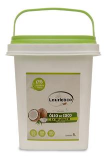 Óleo De Coco 100% Extra Virgem 01 Balde 5 Litros Lauricoco