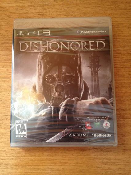 Dishonored Ps3 Lacrado Midia Fisica