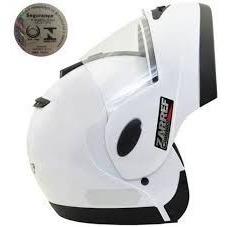 Capacete Moto Taurus Zarref Classic Branco