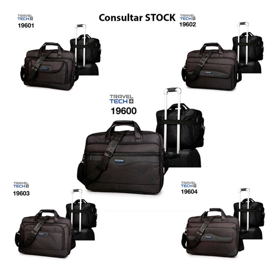 Morral Travel Tech Original Negro Varios Mmk Ntv