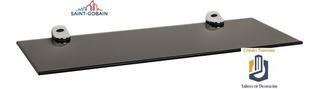 Repisa Vidrio Filtrasol Gris 6 Mm 50 Cm X 20 Cm + Soportes