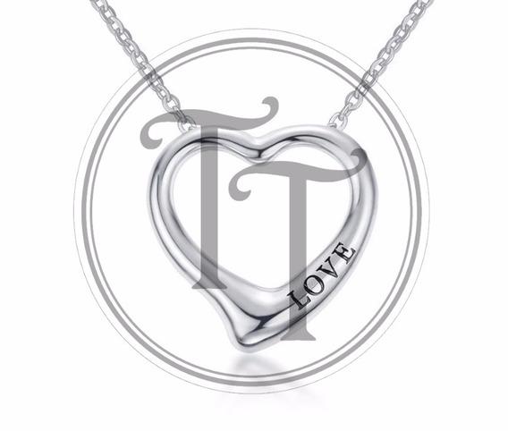 Collar Corazón Love En Titanio 14k