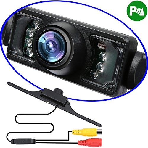 License Plate Mount Car Backup Camera With 7 Night Vision Le
