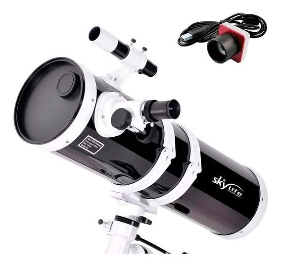 Telescópio Refletor Newtoniano 150mm Skylife Antares + Câmera Lua - Skylife Marca Especialista Em Produtos Astronômicos