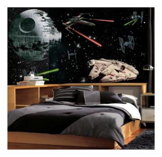 Decoración Mural Pared Star Wars Adherible 3.2x1.8 Metros