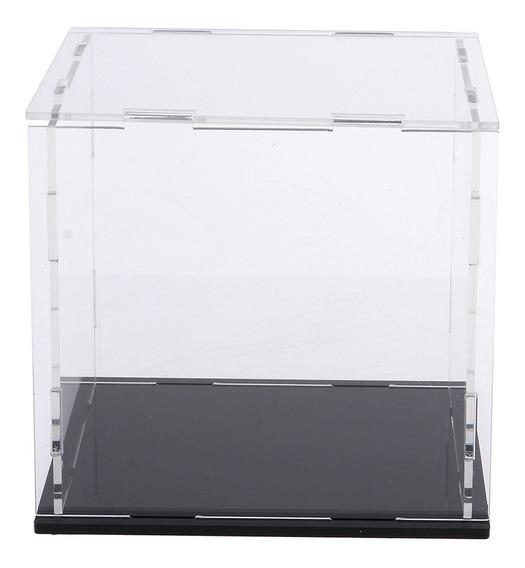 Clear Acrílico Display Case Bancada Caixa Cubo Proteção À Pr