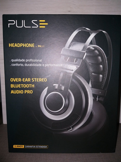 Fone De Ouvido Headphone Bluetooth Pulse Ph241 Preto