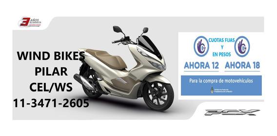 Scooter Honda Pcx 150 0km 18 X $ 20741 Fijos C/tarjeta + Gas
