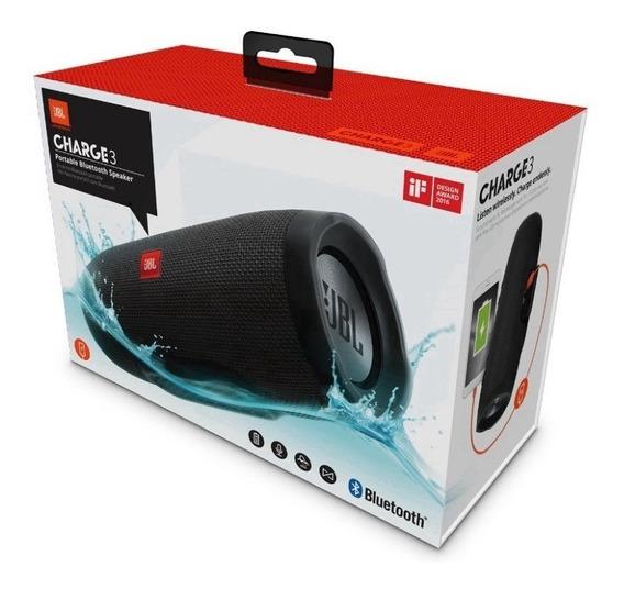 Jbl Charge 3 Caixa De Som Portátil Bluetooth Speaker