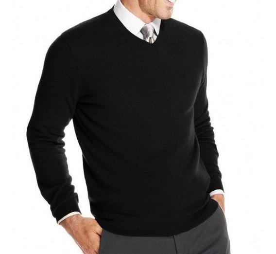 Sweater Buzo Bremer Hombre Pullover Escote V Microcentro
