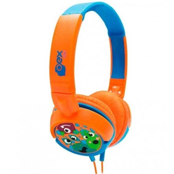 Fone De Ouvido Headphone Boo Infantil Hp301 Colorido Oex