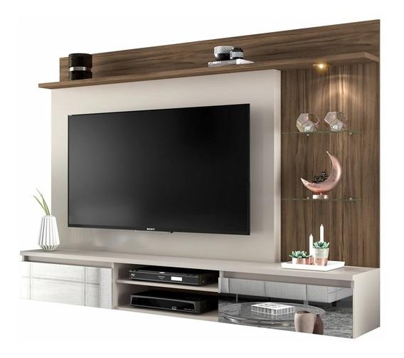 Painel Para Tv Até 60 Polegadas Bellagio Nogal Trend Notável