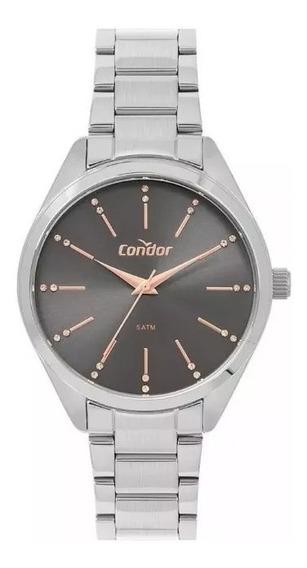 Relógio Condor Feminino Prata Rose Co2035msf/3c