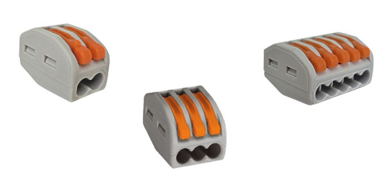 Kit 12 Pçs - Conector De Emenda Tipo Wago - 2 / 3 E 5 Fios