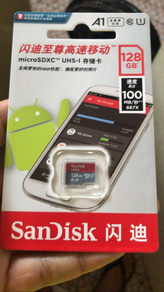 Cartão De Memória Sandisk Sdsquar-128g-gn6mn Ultra Com Adapt