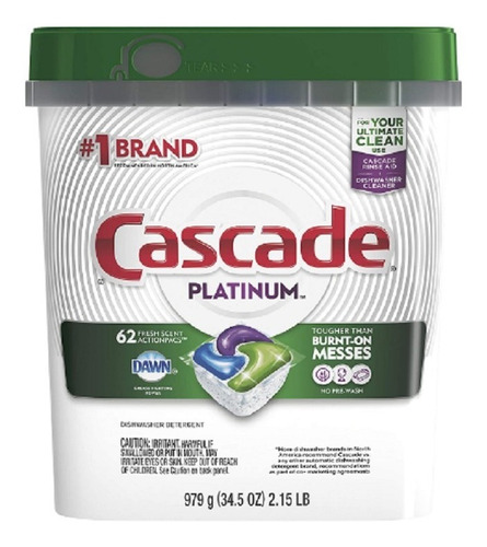 Detergente Lavavajillas Cascade Platin - kg a $1916