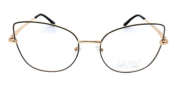 Óculos De Grau Bora Bora Preto/dourado Original