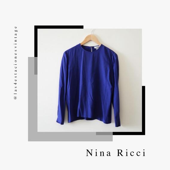 Blusa De Seda Importada. Nina Ricci
